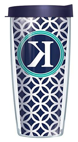 "Navy Roundabout With Letter ""K"" On Wrap Navy Initial 22 Oz S"