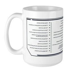 CafePress NCIS Gibbs' Rules Large Mug
