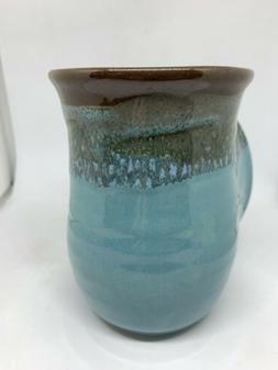 Clay in Motion Neher Handwarmer Mug Right Handed Ocean Tide