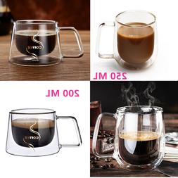 Nespresso Coffee Mug Espresso Tea Cup Thermal Glass Double W