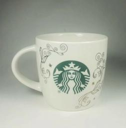 NEW.  Starbucks 14oz Ceramic Coffee Tea Mug/Cup White Swirl
