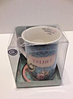 New 2015 Christian Art Gifts TRUST Coffee Tea Mug with Coast