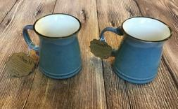 NEW-La Rochelle Artisan Crafted Hipster Stoneware Mug Blue-S