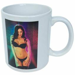 NEW Brunette Stripper Heat Morphing Coffee Cup Mug - 10 Ounc
