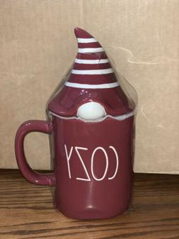 NEW Rae Dunn Burgundy Cozy Gnome Mug by Magenta  2020