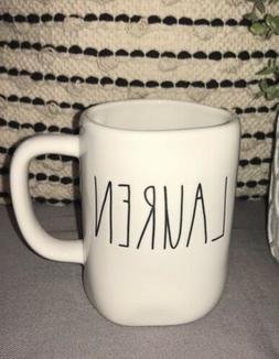 New Rae Dunn By Magenta Ceramic LAUREN Coffee Tea Mug Farmho