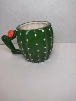 New Cactus Shape 3d Coffee Mug Fun Design Cacti Green Cerami