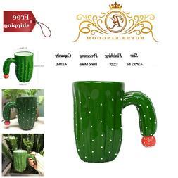 New Cute Funny Novelty Ceramic Cactus Mugs Funny Coffee Mug