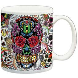 NEW Day Of the Dead Sugar Skulls Coffee Mug - Ceramic Microw