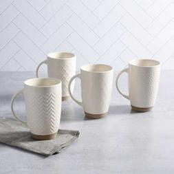 New Laurie Gates Embossed 22oz Mug set, 4-piece