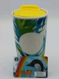 NEW Starbucks Hawaii Exclusive Ceramic Travel Tumbler Mug 12