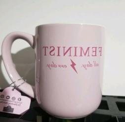 "New ""FEMINIST all day err day"" Mug cup coffee tea 10 Strawbe"