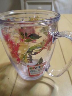 NEW Tervis Fiesta Rose 16 Ounce Acrylic Insulated Mug Coffee