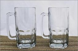 NEW FOUR Anchor Hocking 34 oz 1 L Glass Pint FOUR Mugs Tanka