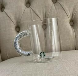 NEW | Starbucks | Glitter Handle Glass Mug | 2019 Holiday Cu