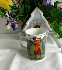 New DUNOON Golf Fine Bone China Coffee Mug Tea Cup Made in E