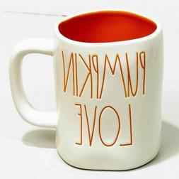 New RAE DUNN Halloween PUMPKIN LOVE Coffee Tea Mug Artisan C