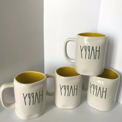 New Rae Dunn HAPPY Coffee Mug-Artisan Collection by Magenta-