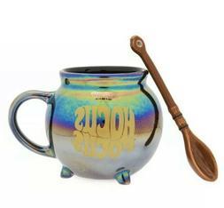New Disney Hocus Pocus Iridescent Mug and Broom Spoon Set  H