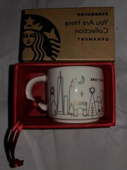 NEW STARBUCKS Holiday NEW YORK You Are Here Gold Edition Orn