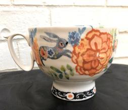 New Anthropologie Home Kitchen Garden Bunny Rabbit Cup mug