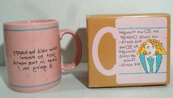NEW IN BOX - Vintage Hallmark Mugs Cup  Middle Age Woman Fun