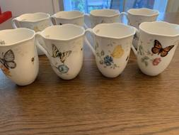 New Lenox butterfly meadow Set Of 8 Mug Set