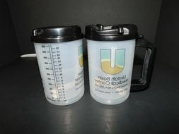New Lot of 2, 18 OZ Whirley Hospital Mug with Swivel Lid