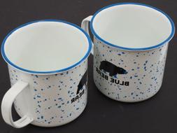 NEW! Blue Bear Outside Metal Camp Coffee Tea Mugs Cups