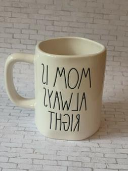 New Rae Dunn MOM IS ALWAYS RIGHT Coffee Cup Easter Spring Mu