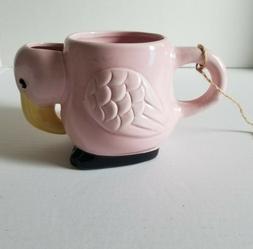 NEW Pink Flamingo 10 Strawberry Street Mug 3D Tropical Tiki