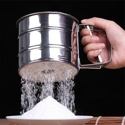 Stainless Steel Flour Sieve <font><b>Mugs</b></font> Design