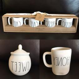 NEW RAE DUNN SWEET Sugar Bowl + Honey Mug + Mini Cafe Espres