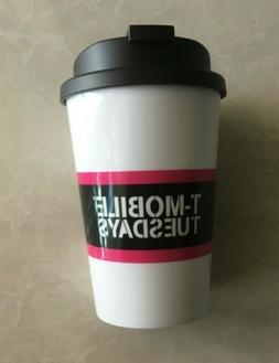 NEW T-Mobile Travel Mug Cup w/ Lid Snap Seal - BPA Free - Mi