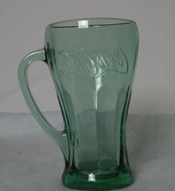 NEW W/TAG COCA-COLA GENUINE GREEN GLASS 14.5oz MUG - LIBBEY