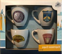 NEW! DISNEY PARKS WDW Espresso Cups Passport Collection Set