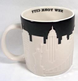 Starbucks New York City Relief Mug 3D Black & White NYC New