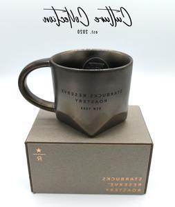Starbucks NEW YORK Reserve Roastery 8oz Bevel Mug Dark BRONZ