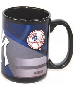 MLB New York Yankees  15 oz Coffee Mug in Black