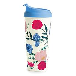 Kate Spade New York Women's Blossom Thermal Mug, Blue Red Mu