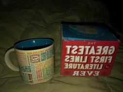 nib 12oz coffee tea mug first lines