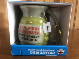 """NIB 12oz Grenade Coffee Mug """"Complaint Department"""" Big Mouth"""