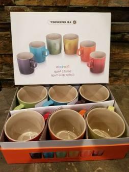 *NIB* Le Creuset Set OF 6 Rainbow  Mugs  NEW IN ORIGINAL BOX