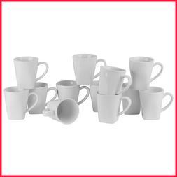 10 Strawberry Street Whittier Square 8-oz. Mugs, Set of 12
