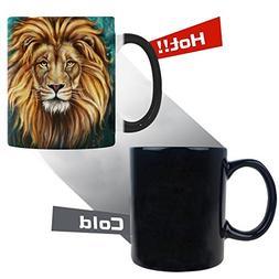 InterestPrint 11 Ounce Novelty Lion Aslan Painting Animal He