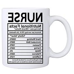 MyCozyCups Nurse Coffee Mug - Nurse Nutritional Facts Mug -