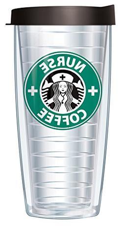 Nurse Coffee Parady 16oz Mug Tumbler Cup with Lid