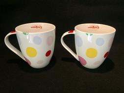 NWT 2 CATH KIDSTON Large Crush Mugs BUBBLES Pattern Queens K