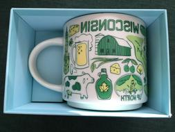 NWT Starbucks Wisconsin Been There Series  14 oz Mug Cup