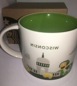 NWT -Starbucks Wish You Were Here Collection Coffee Mug - Wi